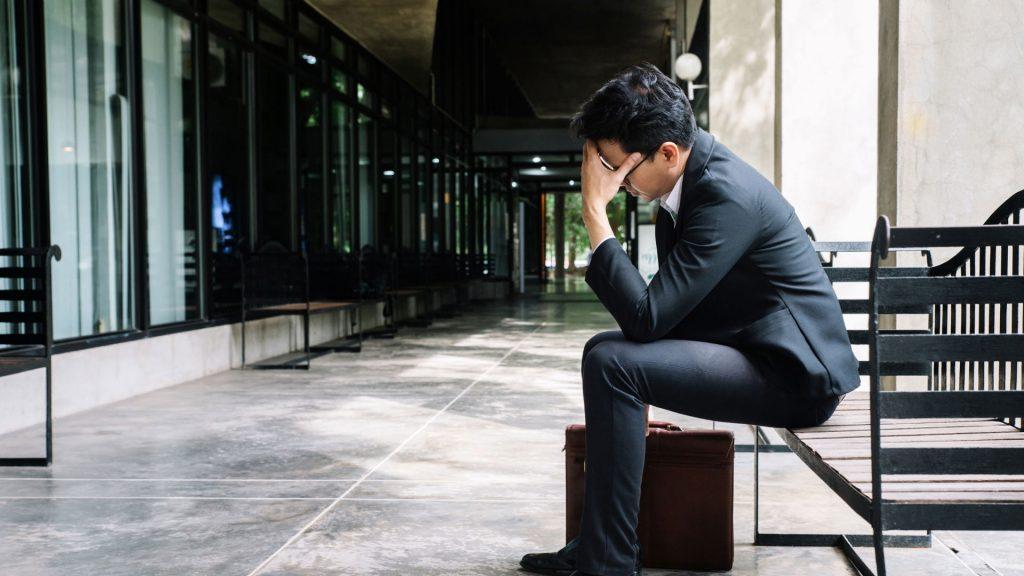 man met stress